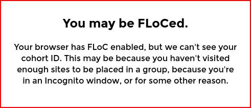 Fetching FLoC data fails