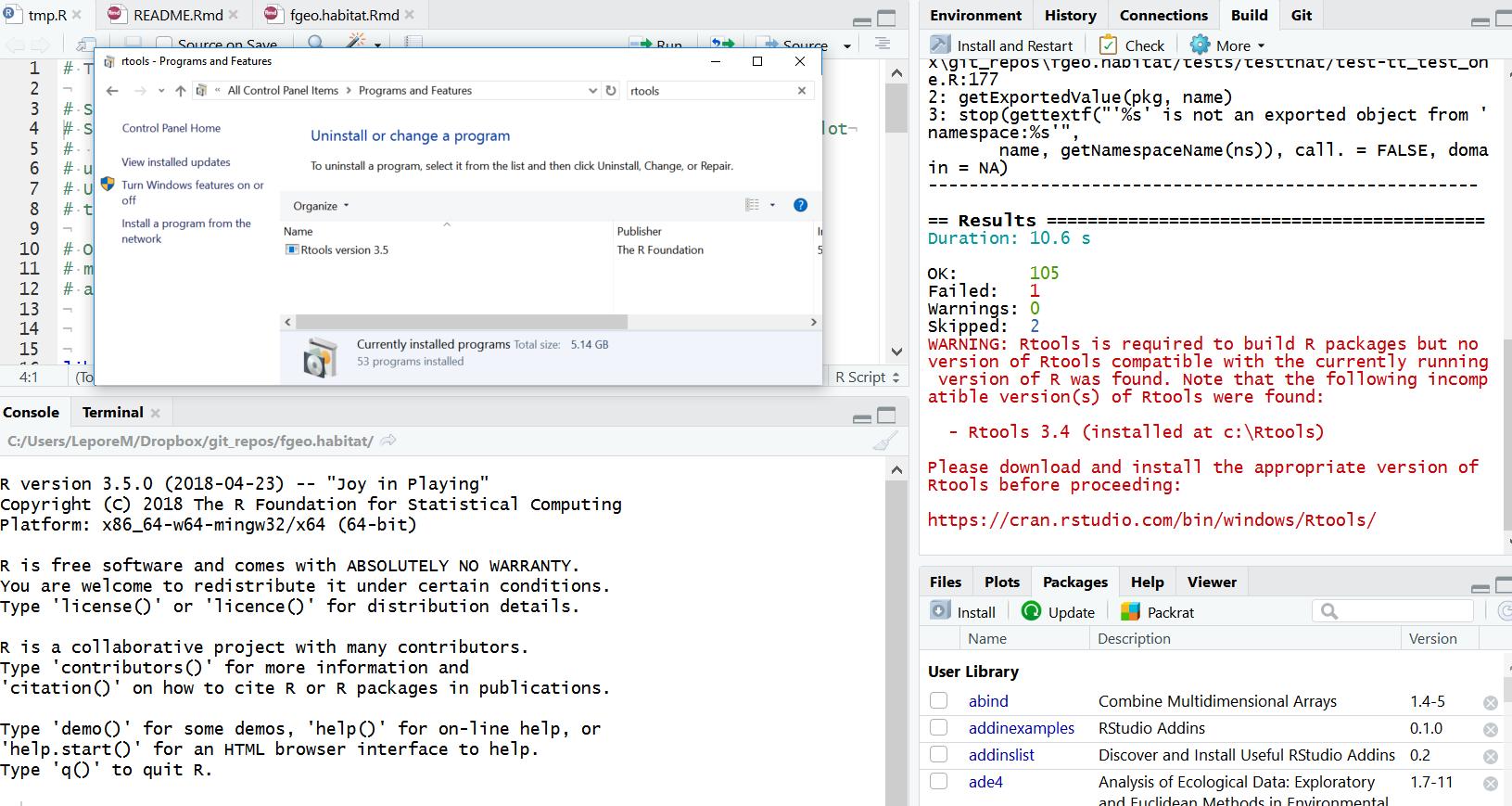 Error creating registry key · Issue #5 · rwinlib/rtools35