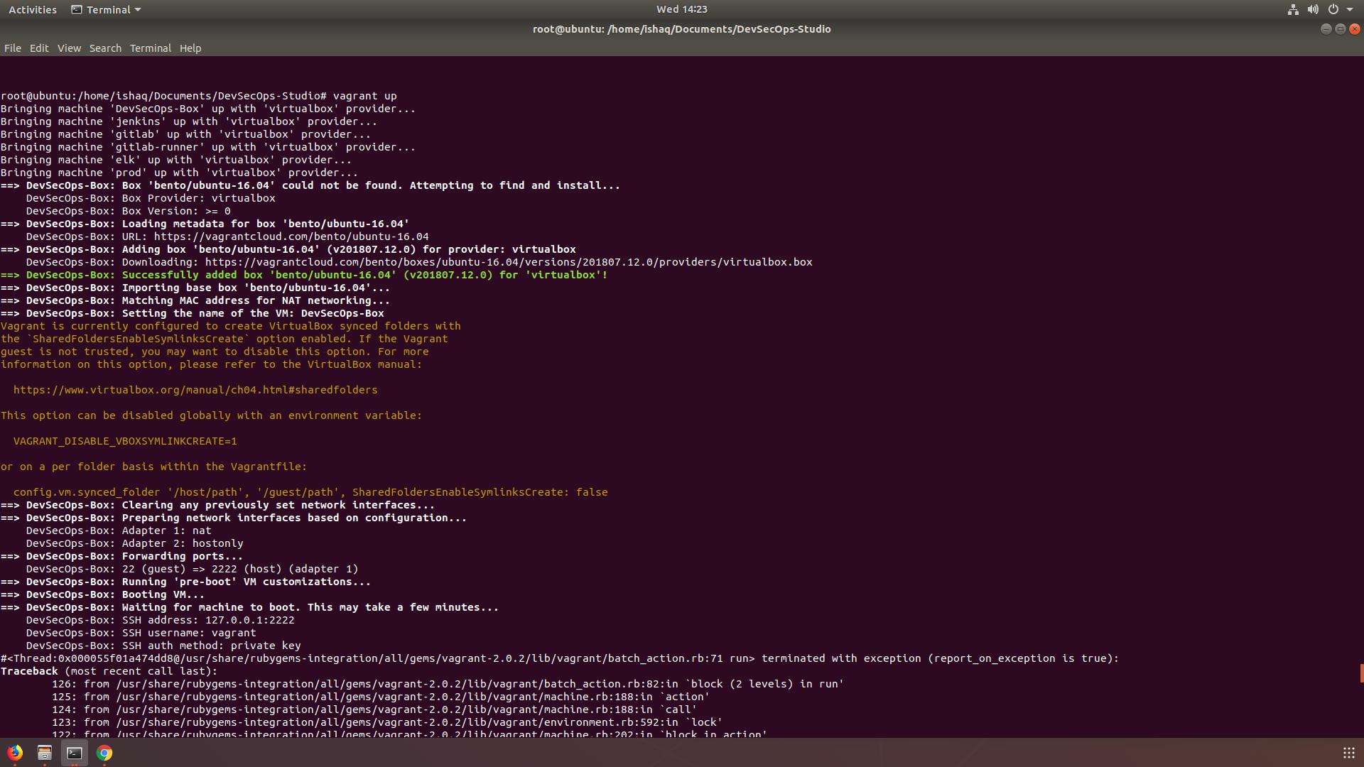 install vagrant and virtualbox ubuntu