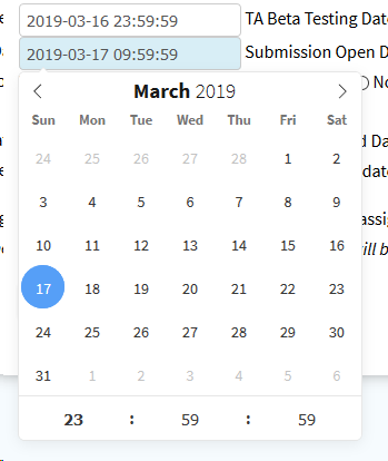 date picker time intialization · Issue #3419 · Submitty