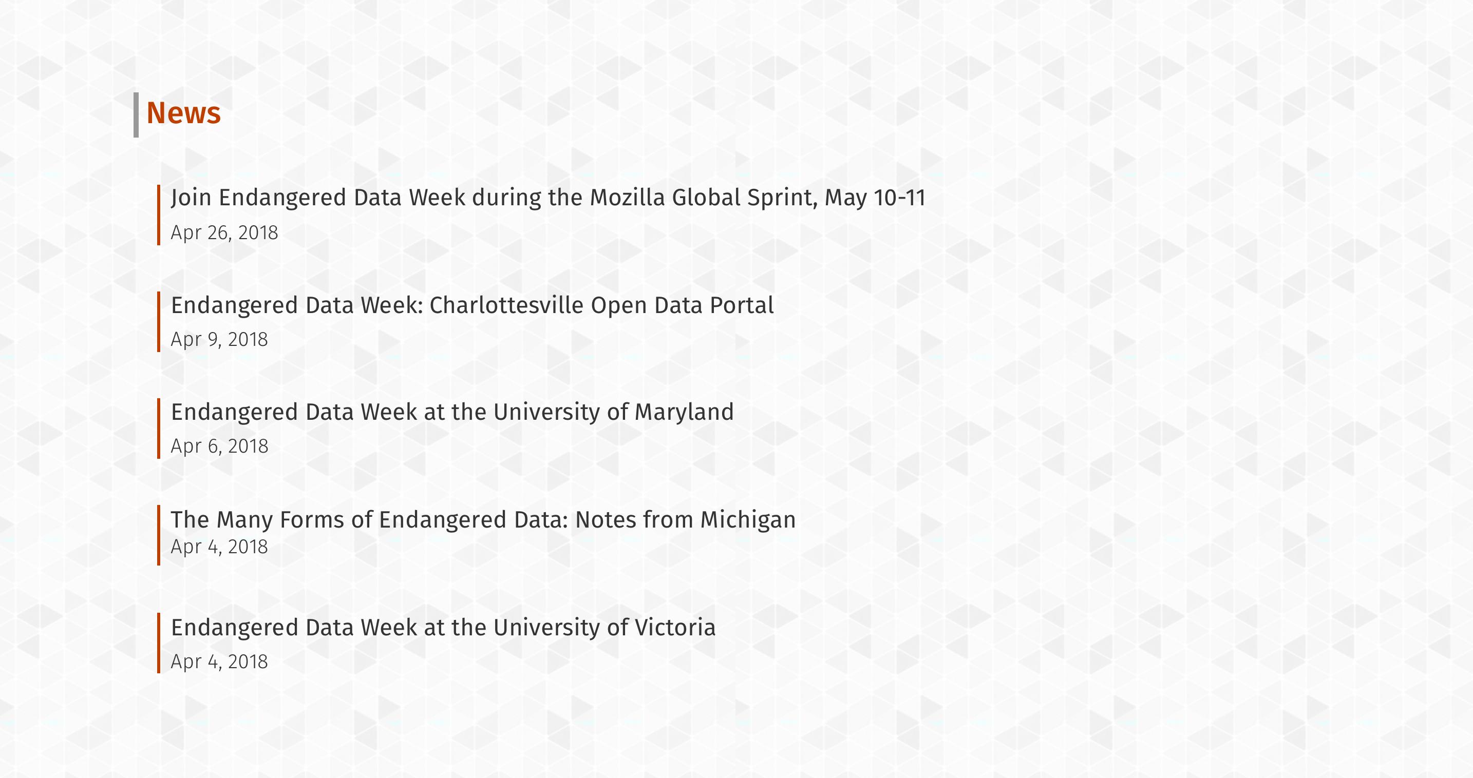 Style EDW RSS feed · Issue #16 · endangereddataweek
