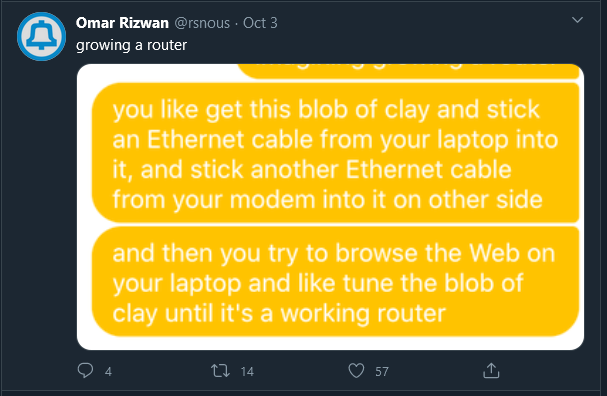 A screenshot of a chat bubble