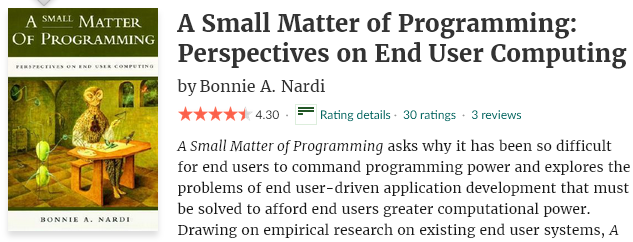 cover art of the book, A Small Matter of Programming