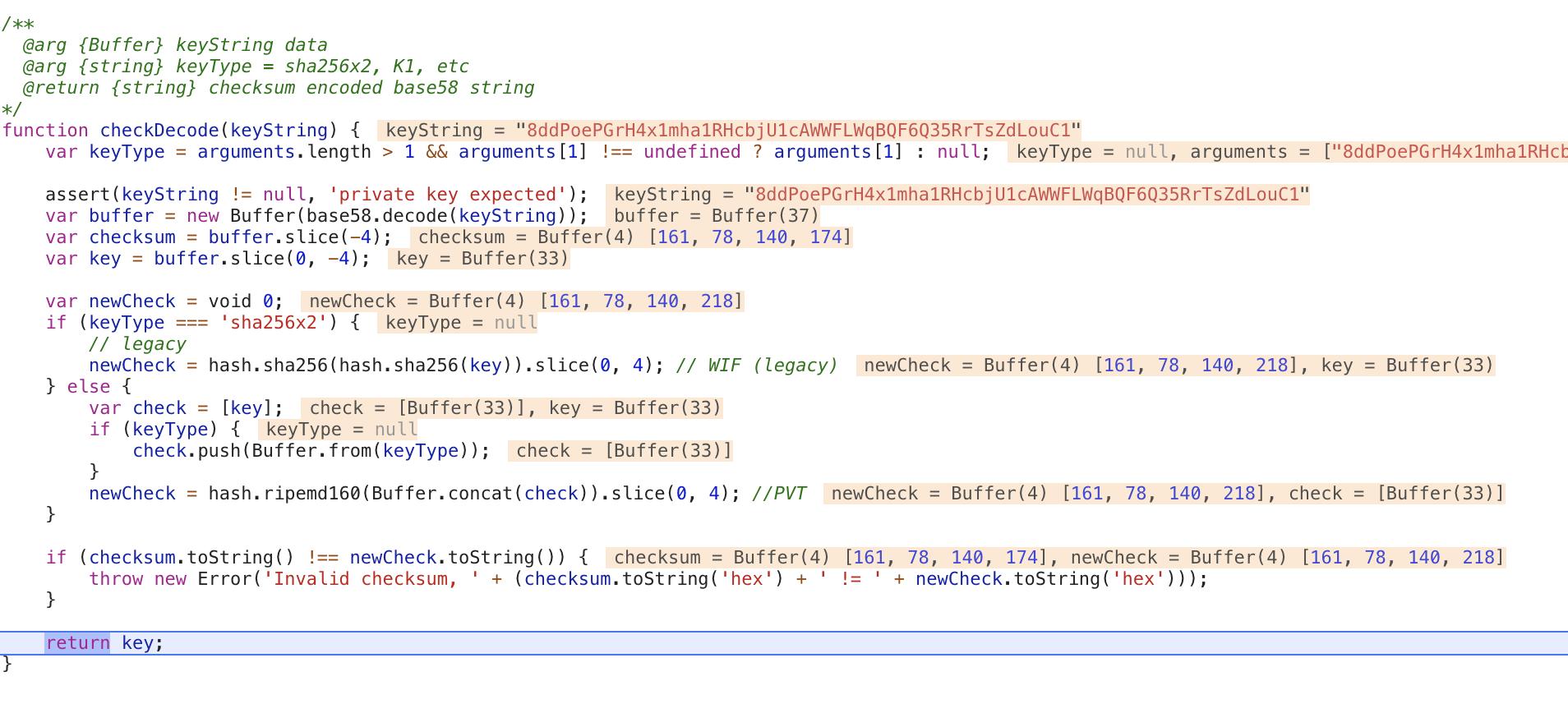 checkDecode has incorrect checksum check · Issue #37 · EOSIO