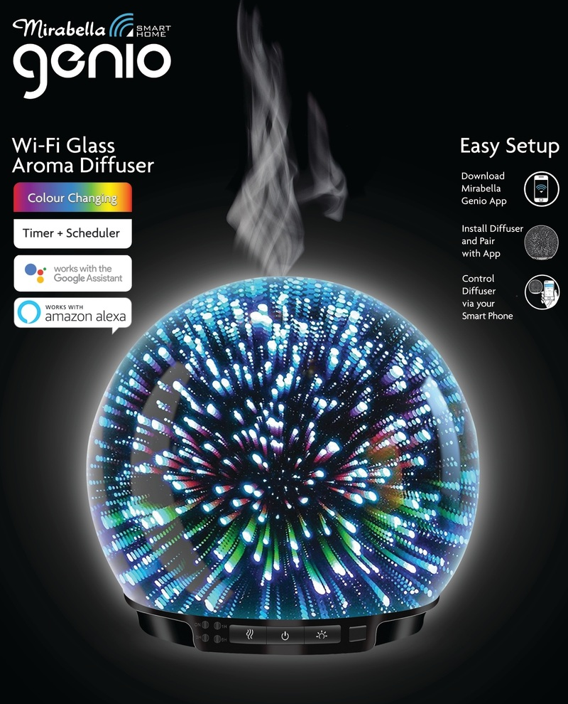 Mirabella Genio Glass Aroma Diffuser 250ml