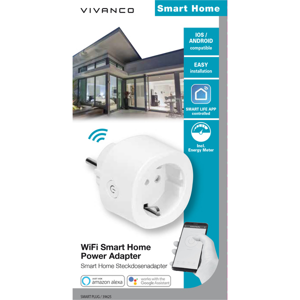 Vivanco 39625 Smart Home Power Adapter