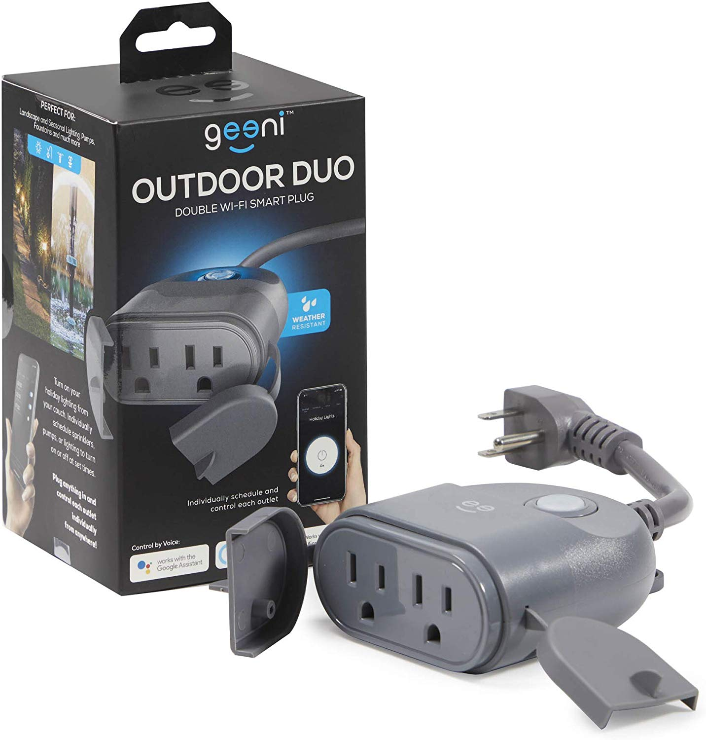 Geeni Outdoor DUO Dual Outlet