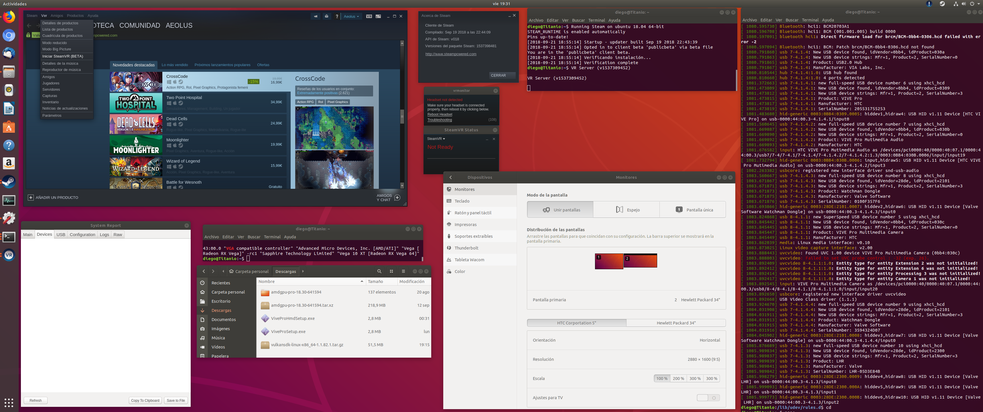 Error Code 108 with Vive Pro + Ubuntu Bionic Beaver · Issue #131