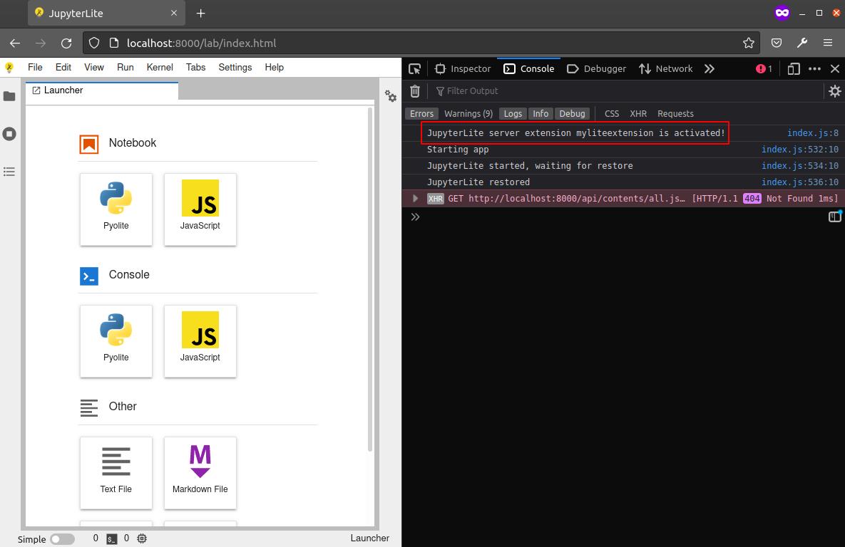 jupyterlite-server-extension