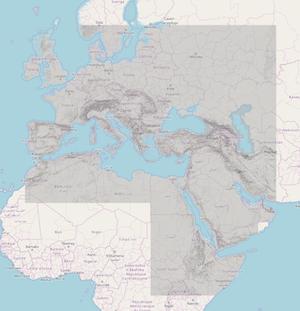 Dare raster tiles digital atlas of the roman empire hosted hillshade map tiles gumiabroncs Choice Image