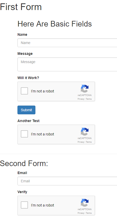 reCAPTCHA field doesn't check if the script is already loaded
