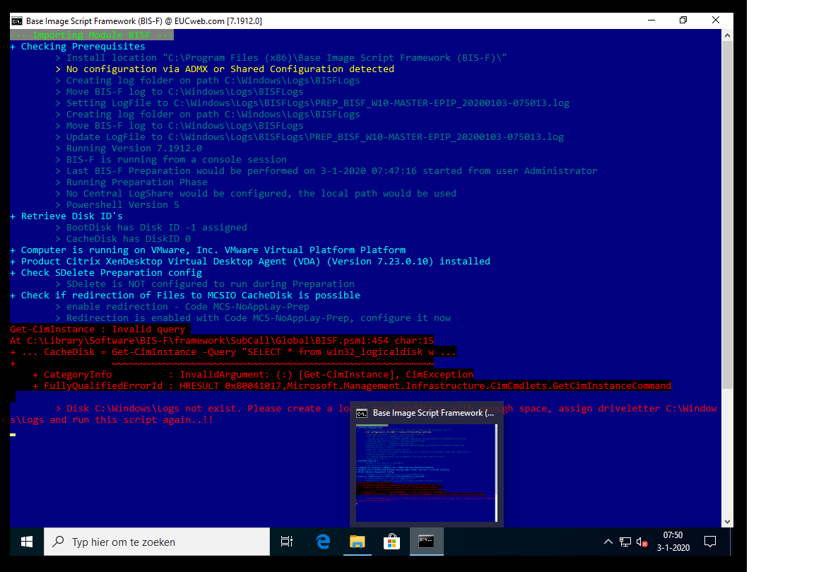 disk c-windows-logs-error