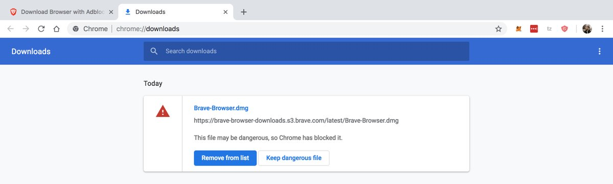 download from Chrome sometimes get