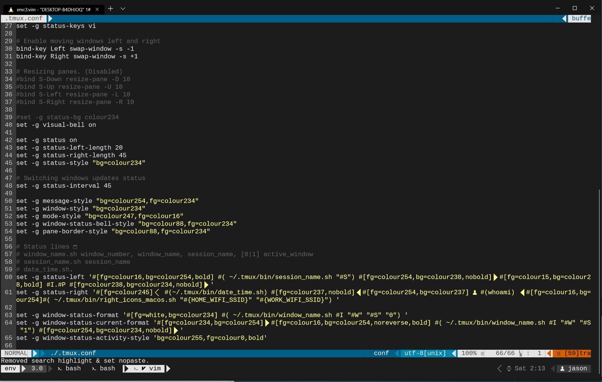 WSL terminal crashes when using tmux · Issue #2610