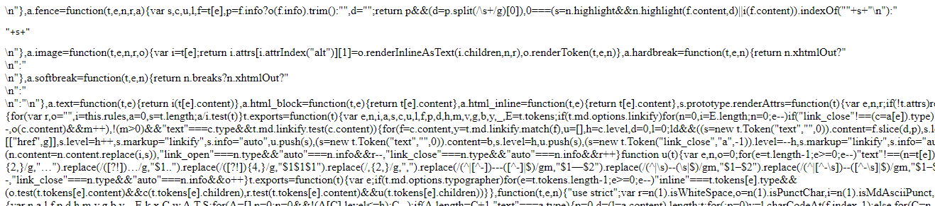 Raw JS file instead of error