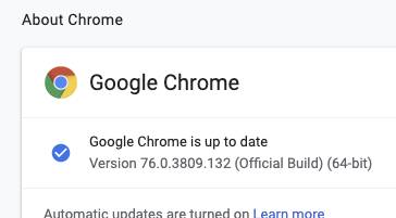 Issue with loading images on Chrome browser Version 75 0