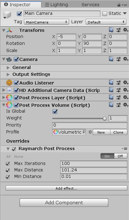 Fullscreen Raymarch for Unity's Post Process V2 (PostFX V2) stack