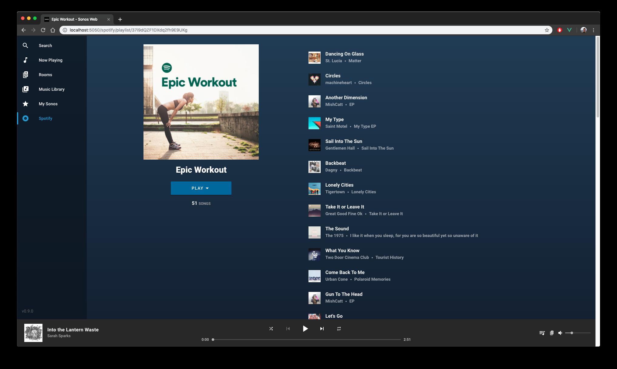 Spotify Playlist Detail