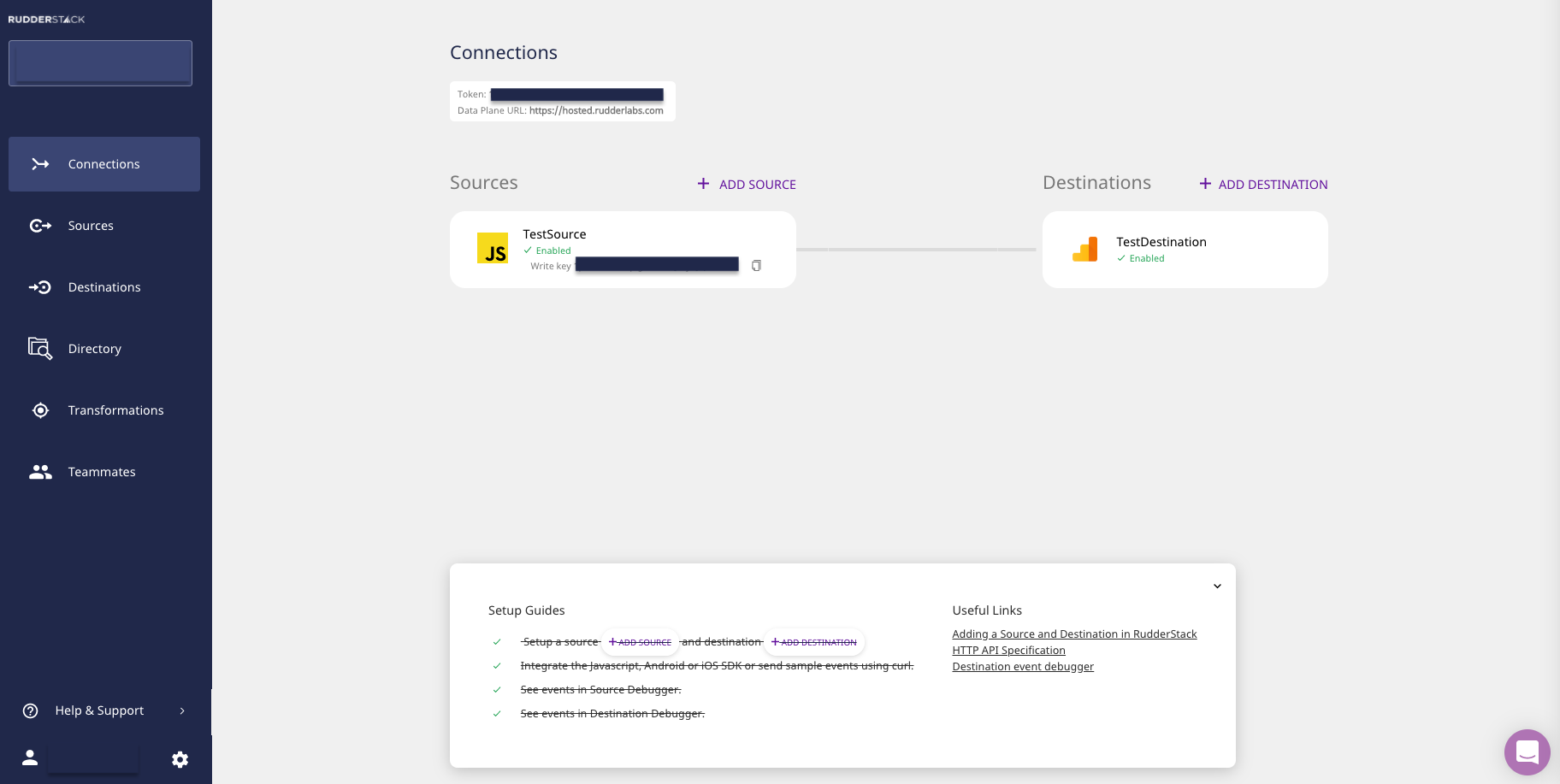 Connections Page