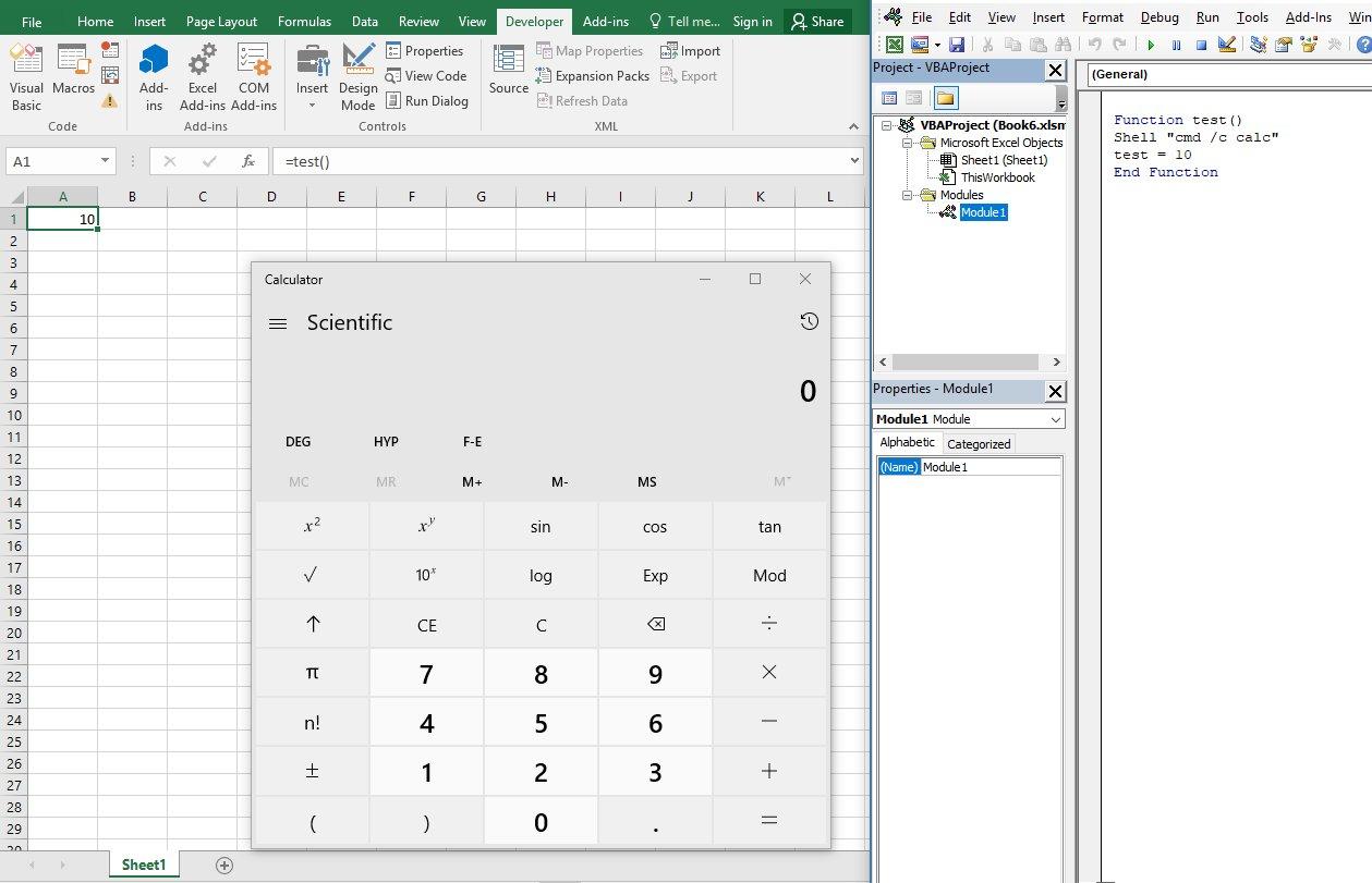 olevba+mraptor: Detect VBA macro trigger from an Excel