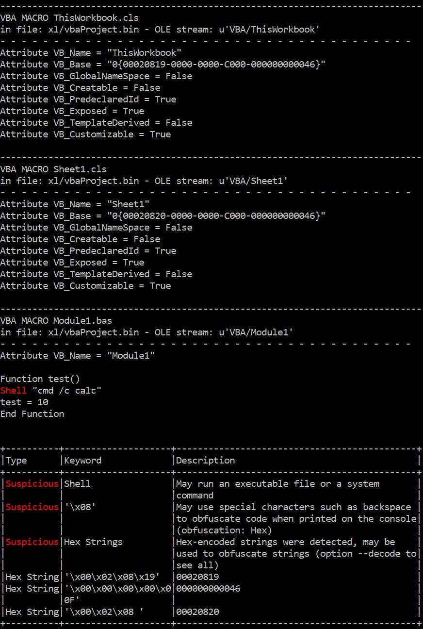 olevba: display VBA attributes when a keyword was found in them