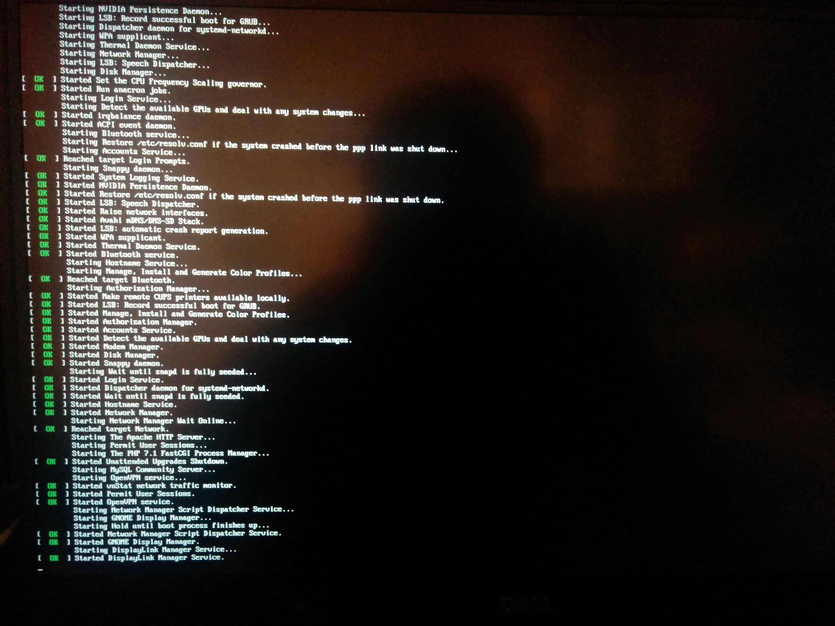 Error on boot, system freezes · Issue #129 · AdnanHodzic