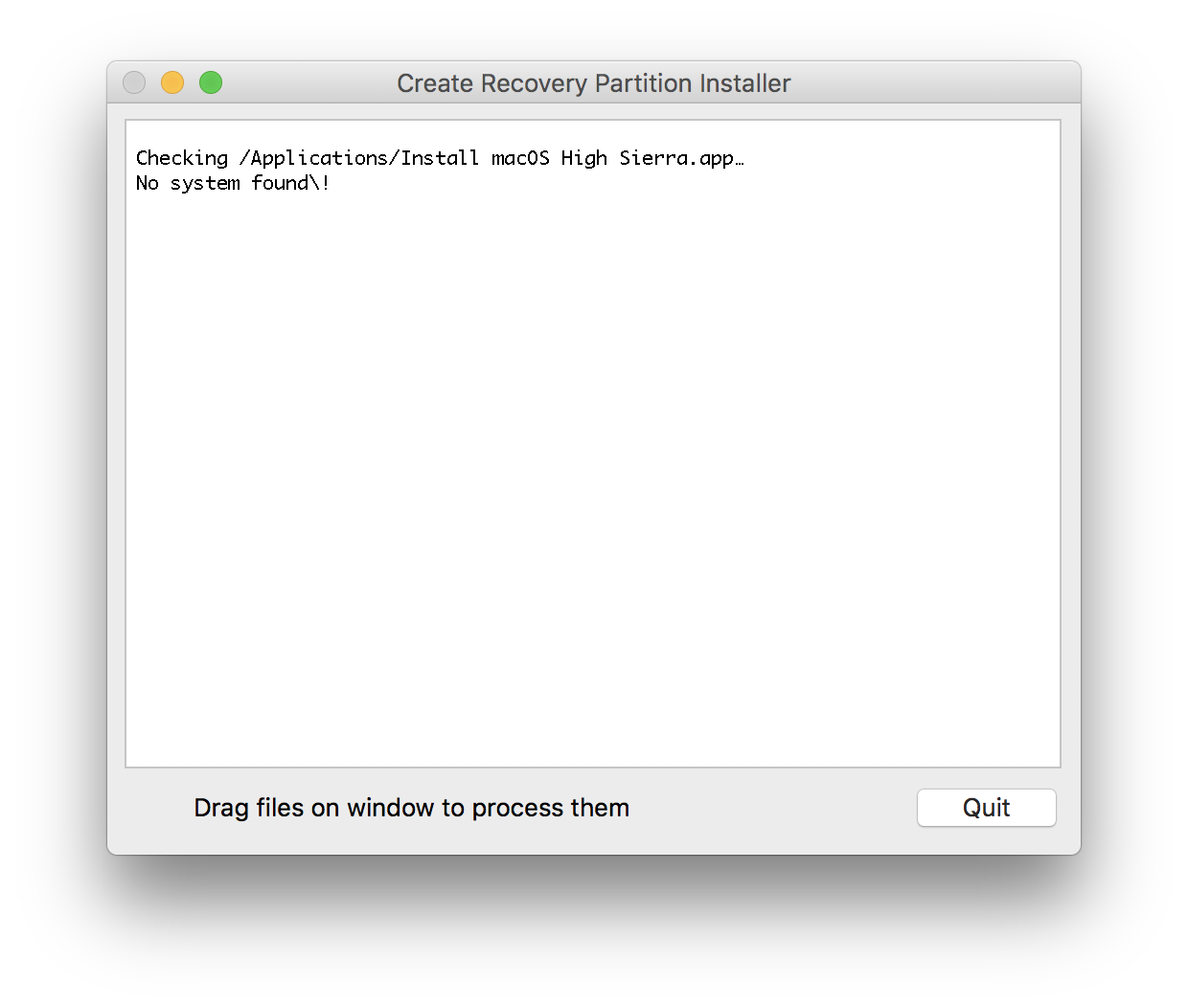 Not working with macOS High Sierra · Issue #9 · MagerValp/Create