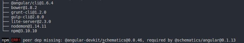 install angular cli 5.1
