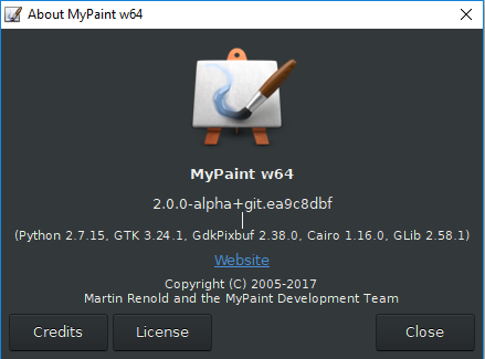 MyPaint 1 2 1 crashes as soon as I use my tablet · Issue