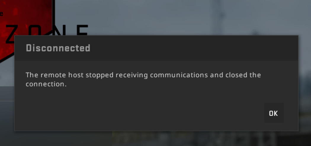 Random Disconnects After Latest CSGO Update 11/20/2017