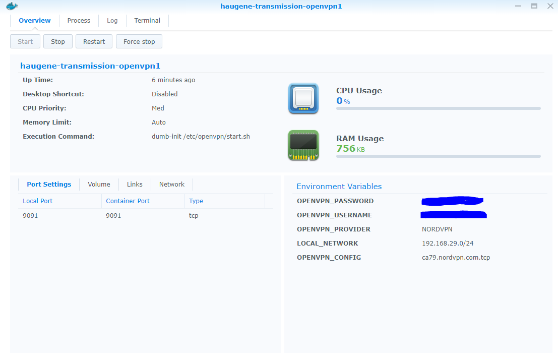 Cant get it working right  Docker on Synology NAS  Log included