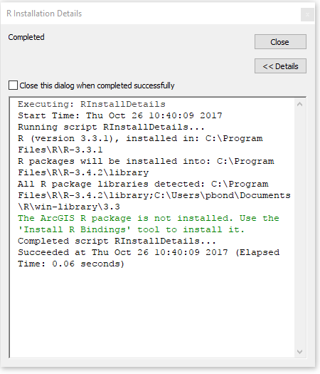 R Installation Details - Showing Old Version of R · Issue