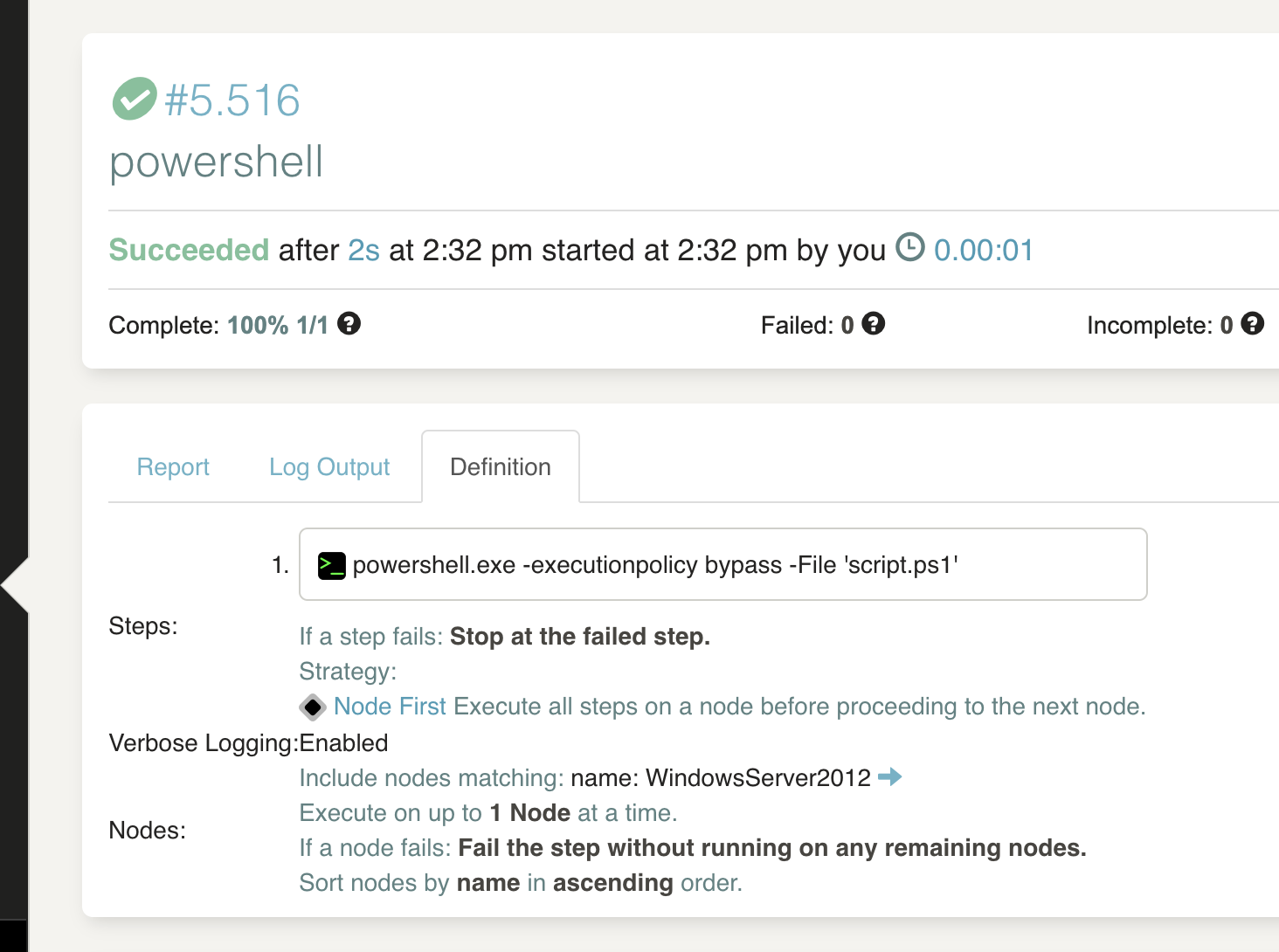 Error execution powershell scripts · Issue #4602 · rundeck