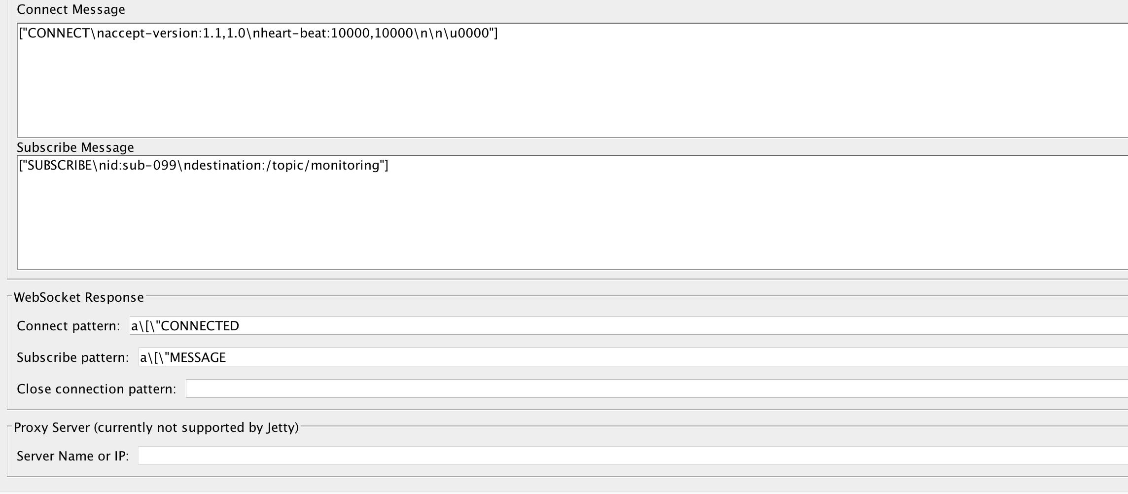 SEND messages to Websocket STOMP endpoint using JMeter-WebSocket
