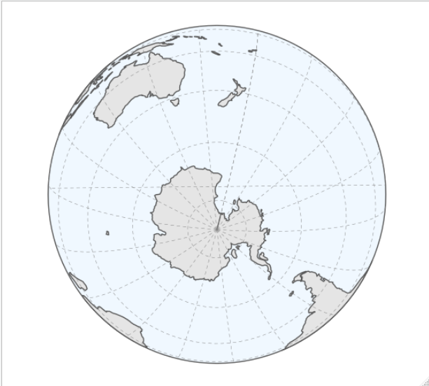 Graticule in orthographic projection has unexpected