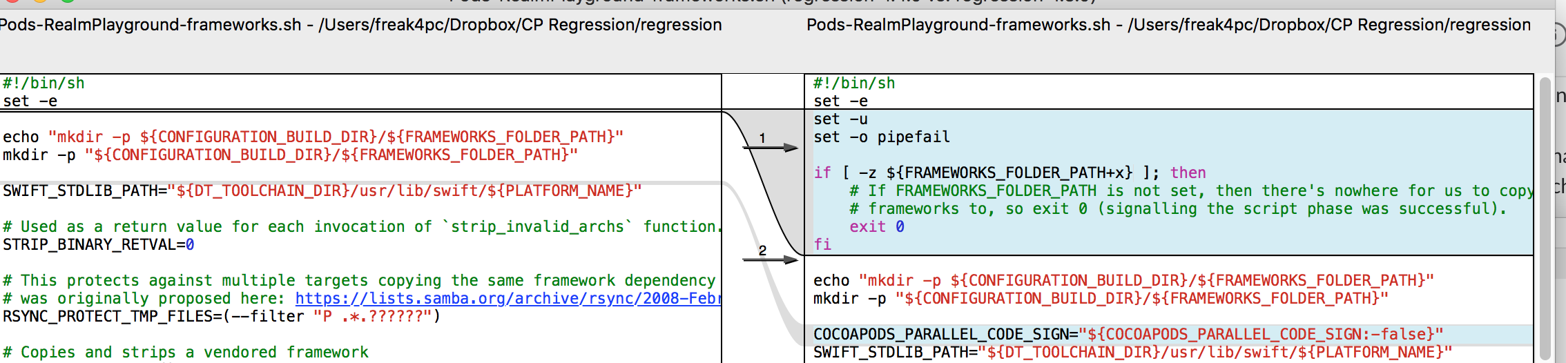 Playgrounds regression between CocoaPods 1 4 0 and CocoaPods 1 5 0