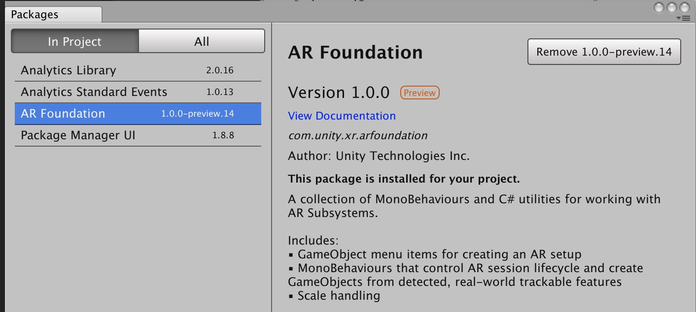 Black Screen · Issue #2 · Unity-Technologies/arfoundation