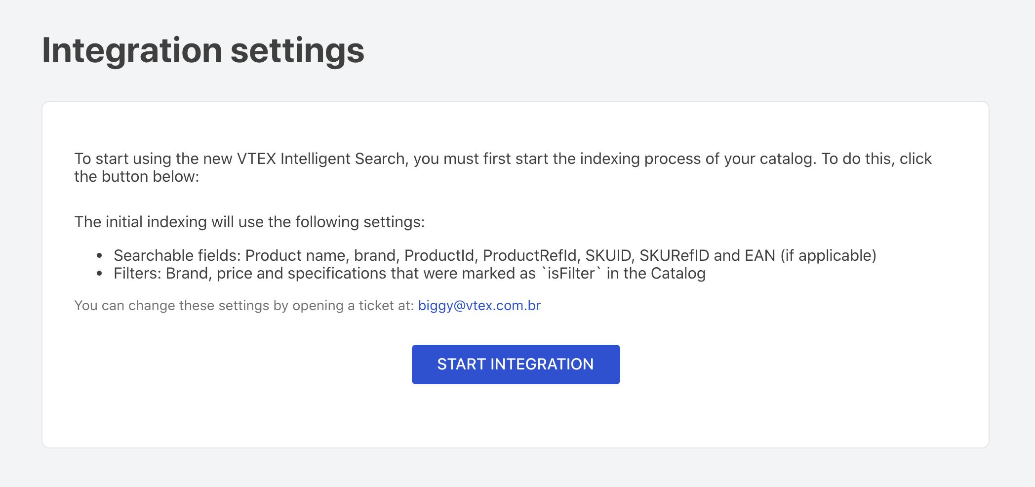 start-integration