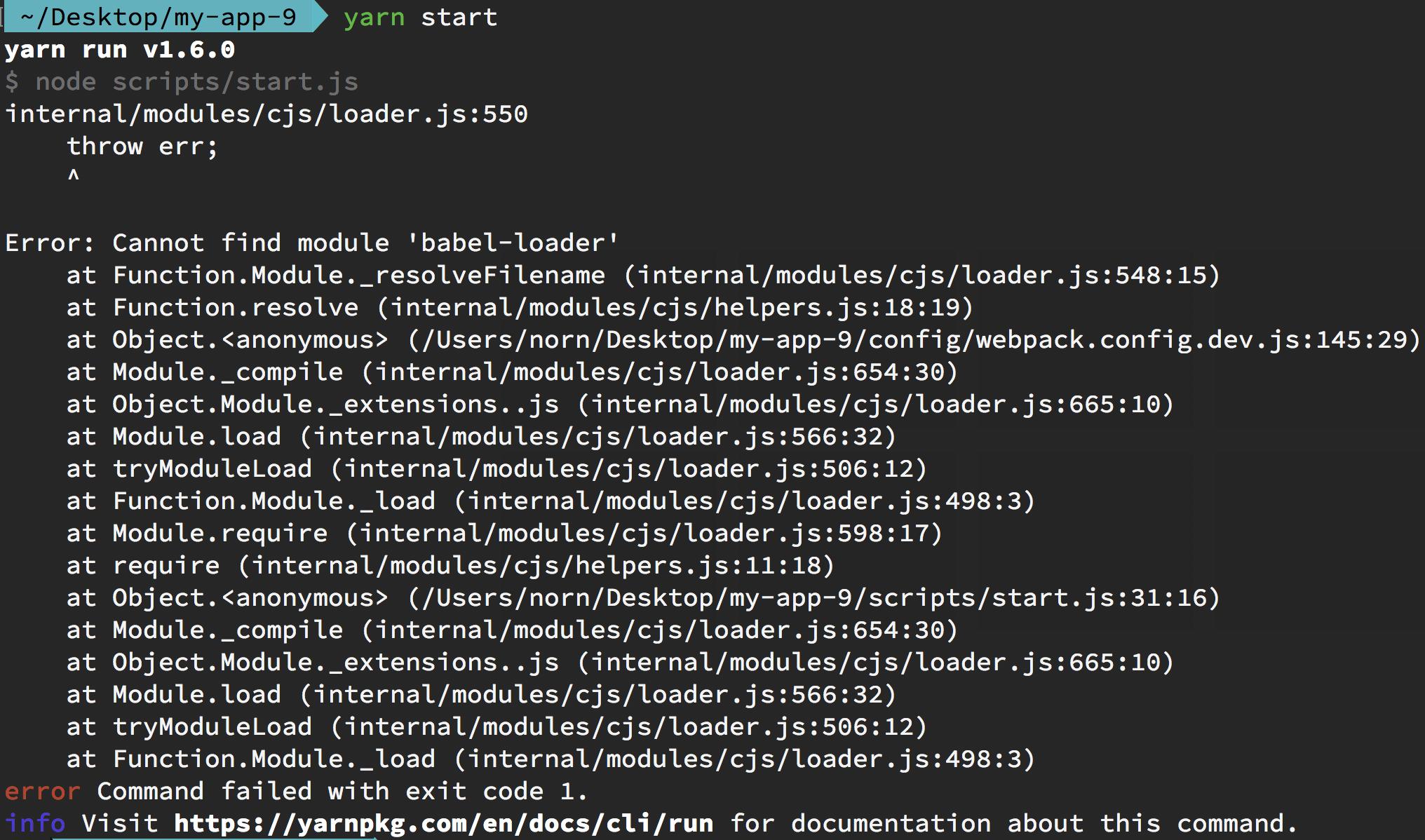 Missing dependencies in create-react-app · Issue #5807 · yarnpkg