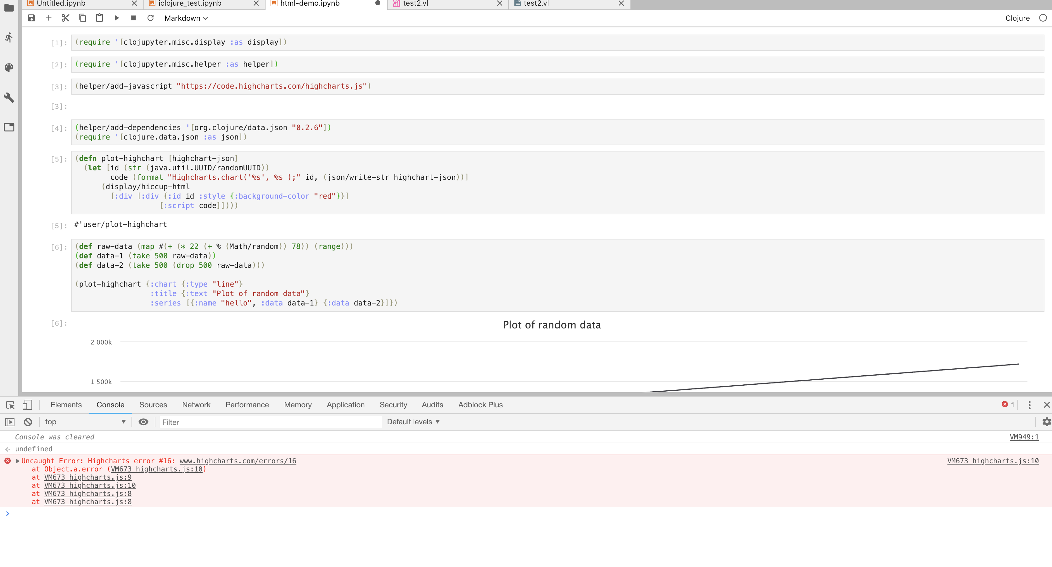 add-javascript function broken? · Issue #76 · clojupyter