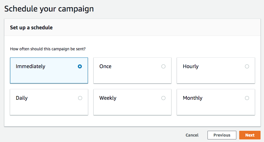 Update documentation on Pinpoint client create_campaign for