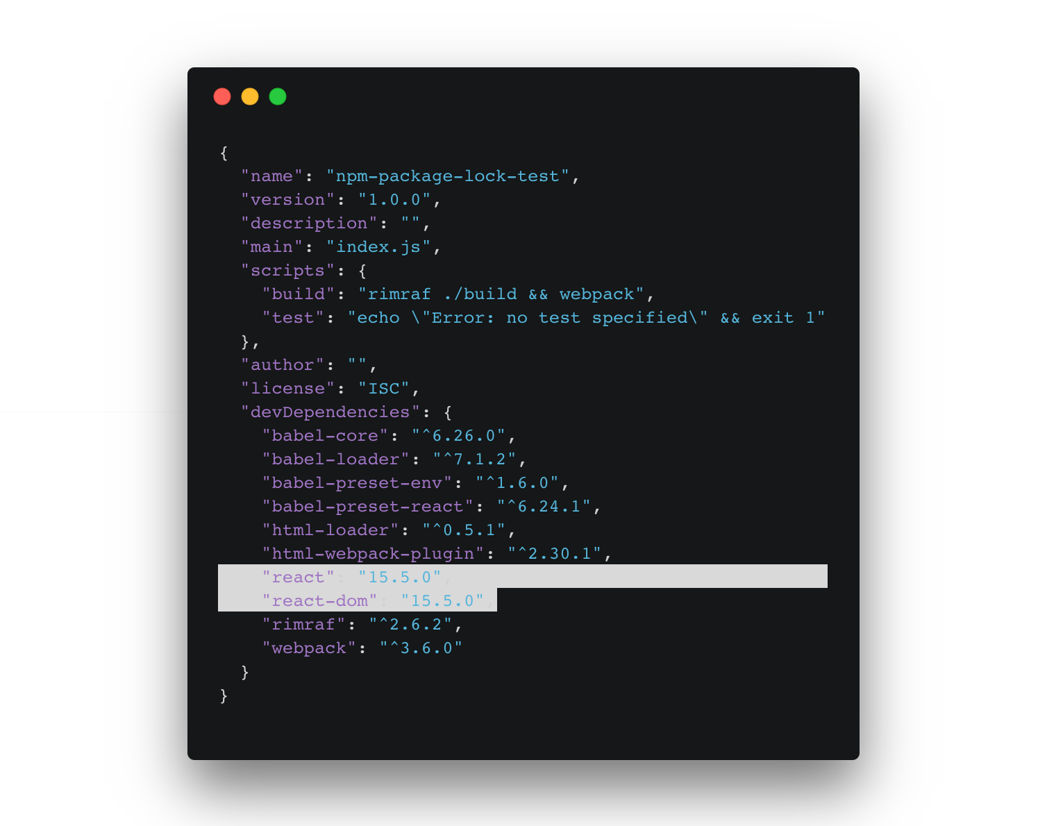 npm install from package-lock json