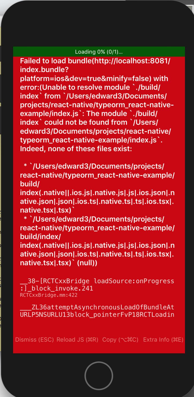 iOS] error: bundling failed: Error: Unable to resolve module