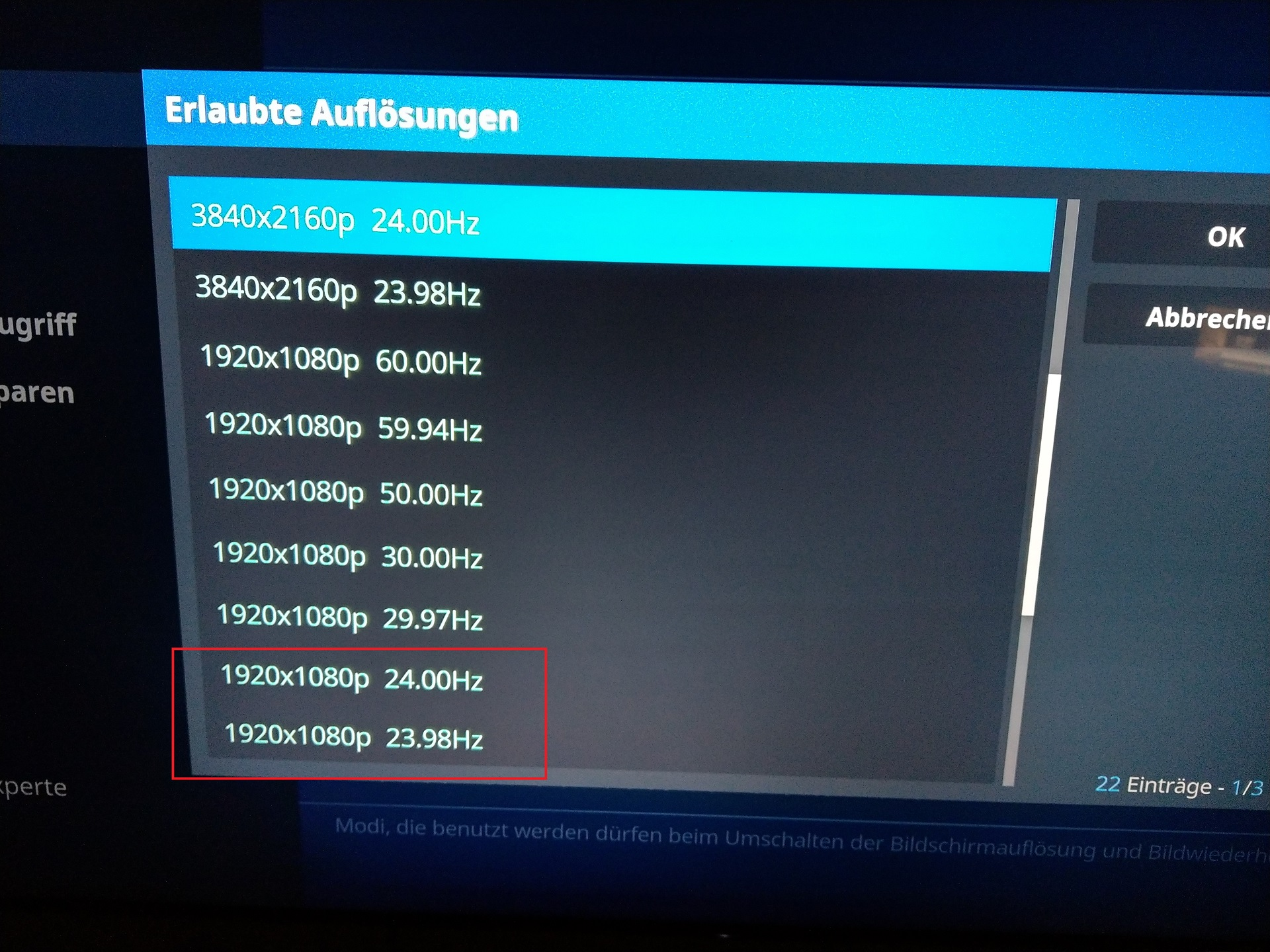 Nvidia shield auto framerate switching not working in 4k