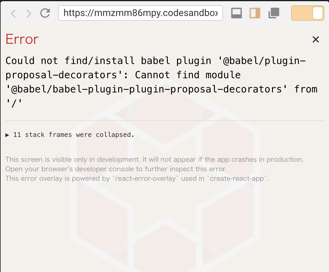 Question] Is babel 7 supported? · Issue #1345 · codesandbox