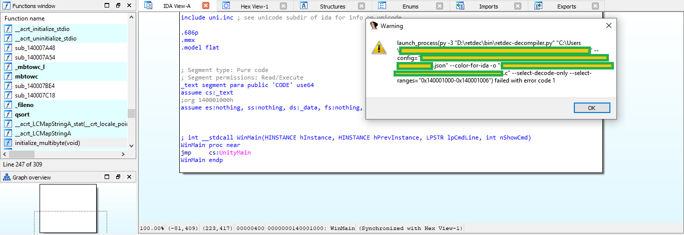 Decompilation error · Issue #40 · avast/retdec-idaplugin