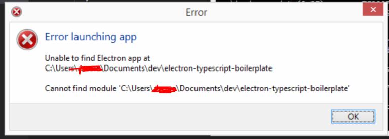 Error during npm start · Issue #1 · mgechev/electron-typescript