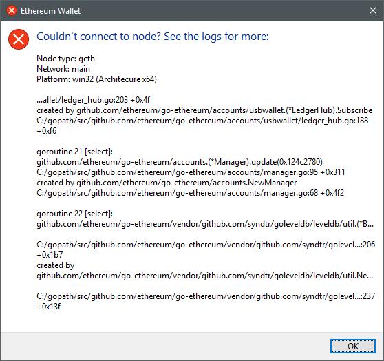 BUG] Cannot start app, windows 10 · Issue #14612 · ethereum/go